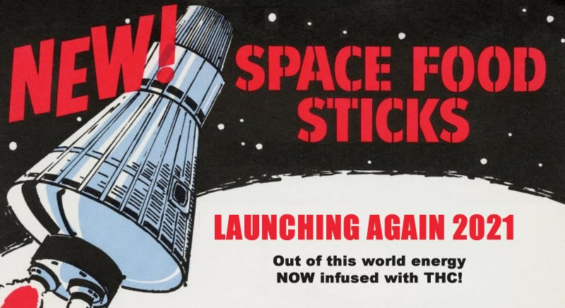 space food sticks and Vivid